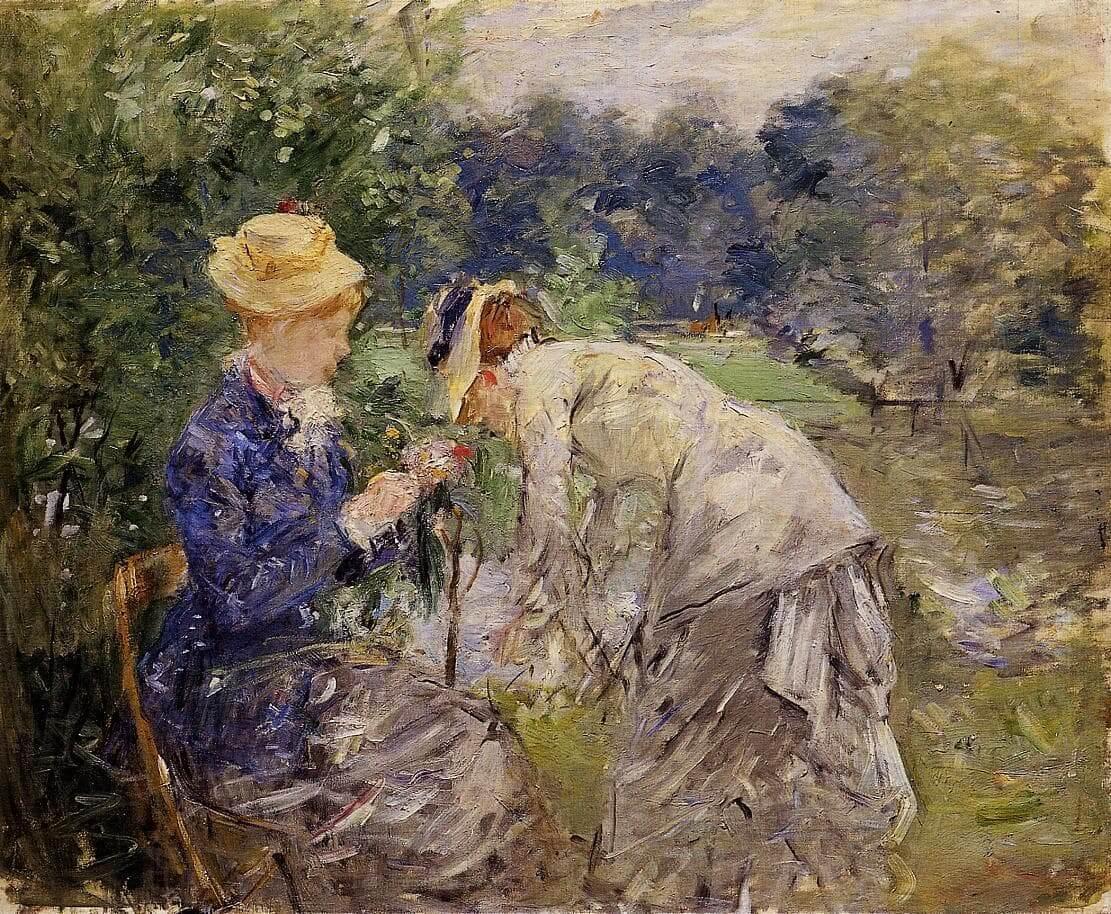 """A Bois de Boulogne-ban"", szerző: Berthe Morisot"